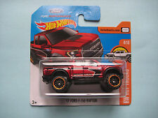 Diecast Hotwheels HW Hot Trucks 4/10 '17 Ford F-150 Raptor Red on Blister