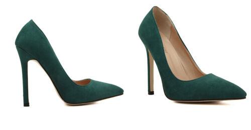 Décollte Cm Stiletto 11 Donna 9201 Verde Decolte Eleganti Tacco Spillo 5 Scarpe 1r01gwx