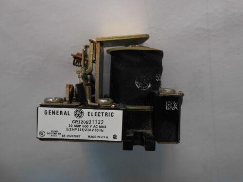 GENERAL ELECTRIC CR120E01122 10 AMP 600 VOLT 1//2 HP 115//230 V CONTACTOR