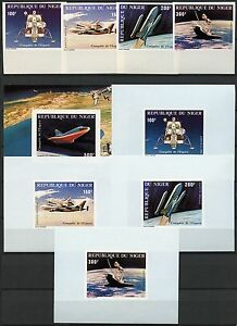 Space-Raumfahrt-1981-Niger-Space-Shuttle-742-745-U-Block-32-U-Deluxe-MNH-1211