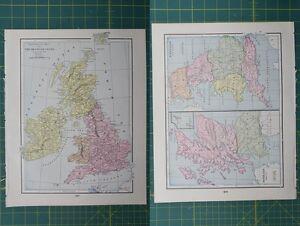 British isles england scotland vintage original 1895 crams world image is loading british isles england scotland vintage original 1895 crams gumiabroncs Choice Image