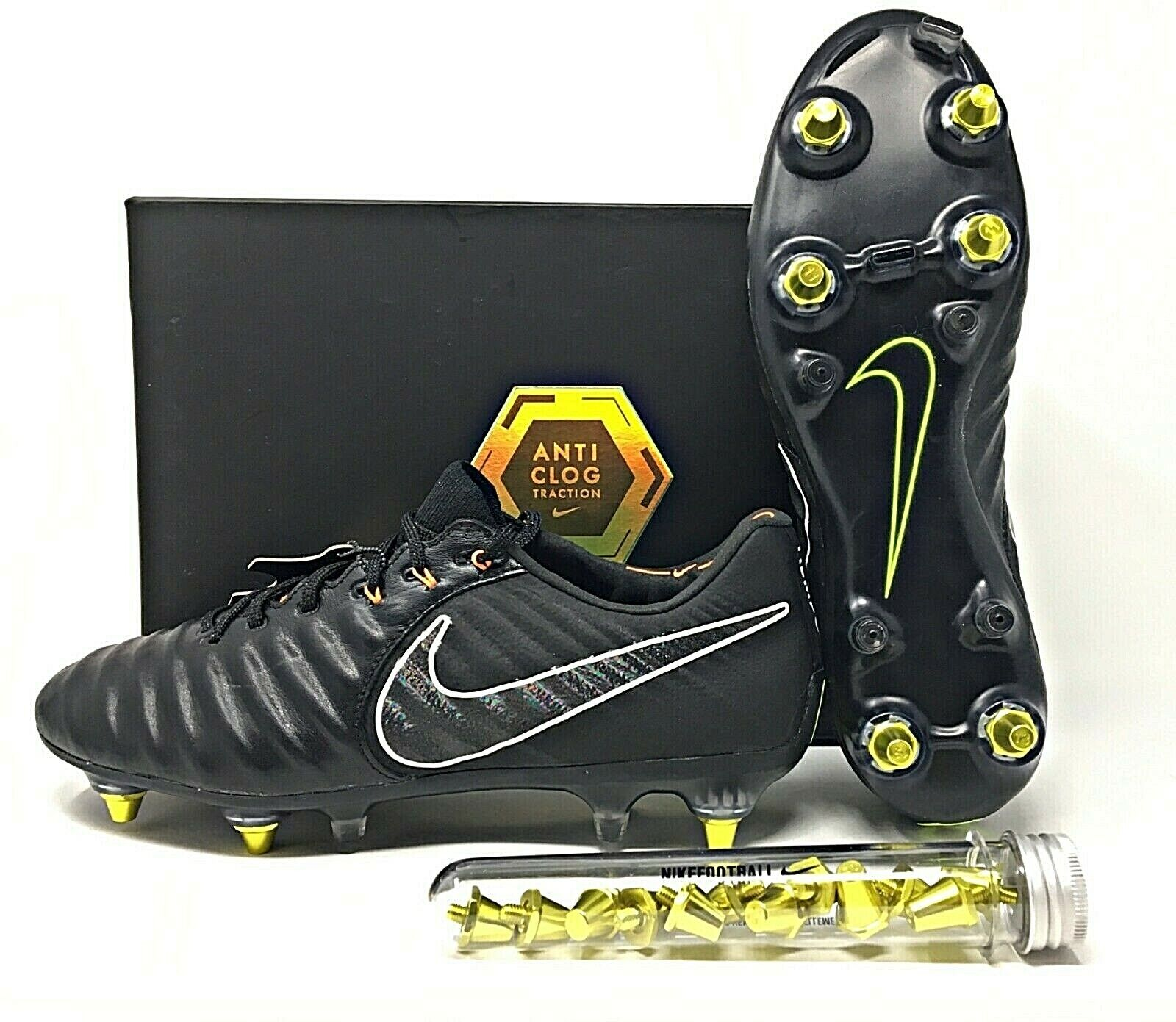 Cita Roble Sin  Nike Legend 7 Elite SG-PRO AC Black/Orange Men's Soccer Cleats SZ  (AH7253-080) for sale online