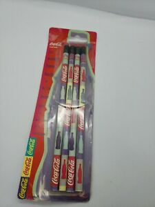 Coca-Cola-2-Pencils-Lead-Bonded-Collectors-Made-in-USA-Pack-of-4