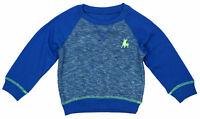 Boys Bull Logo Long Sleeve Sweatshirt Crew Neck Jumper Top Blue 1.5 to 8 Years