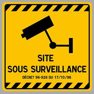 VIDEO-SURVEILLANCE-CAMERA-PROTECTION-15cm-AUTOCOLLANT-STICKER-VA094