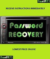 Reset Password Pioneer AVIC F840-940bt for sale online | eBay