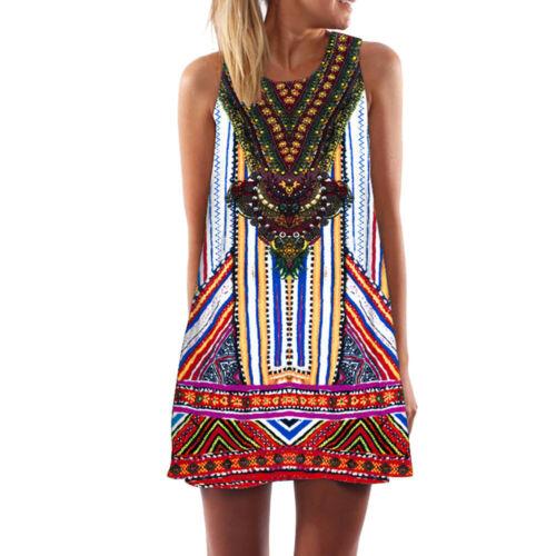 Women Summer O-Neck Short Sleeve Floral Print Sundress Casual Swing Maxi Dress