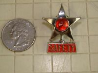 Vintage Style Safety Star Safety First Hat Pin Lapel Pin Pin Pack Collectable