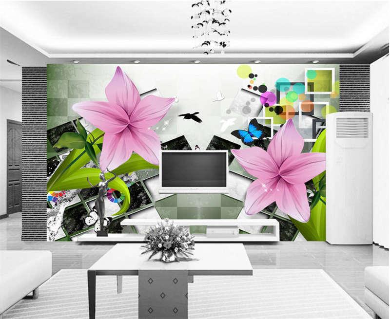 Unique Vital Tulip 3D Full Wall Mural Photo Wallpaper Printing Home Kids Decor