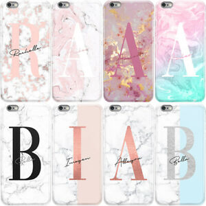 huge selection of 0a757 53d08 Details about INITIALS PHONE CASE PERSONALISED MARBLE HARD COVER FOR SONY  XPERIA XA1 XZ1 Z5