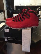 Nike Air Jordan 10 X Retro Gym Red Bulls Over Broadway 705178 601 10.5
