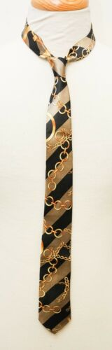 New Young Men/'s Boy/'s Ties Fashion Gold Chain Insignias Tie Dress Suit Necktie