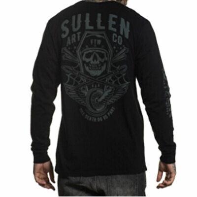 Sullen Men's Ortega Long Sleeve T Shirt Black Clothing Apparel Art driven Tatto