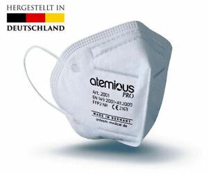 Atemious medizinische FFP2 Atemschutz-Maske  CE zertifiziert deutsche Produktion