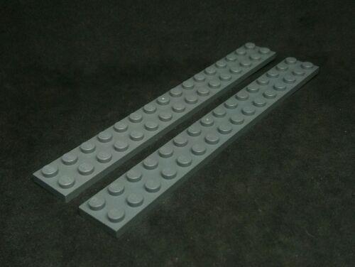 LEGO plate 2x16 Dark Grey x2 4282
