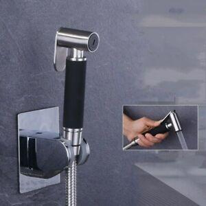 Nickel Hand Held Toilet Bidet Sprayer Set Kit Sus Bidet Faucet For Bathroom Ebay