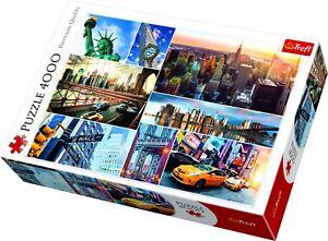 Trefl-4000-pezzi-adulto-grande-immagine-New-York-City-Collage-SITI-Puzzle-NUOVO