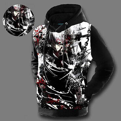 Anime Tokyo Ghoul Kaneki Unisex Hoodie Jacket Pullover Coat Sweatshirt#38-W-44