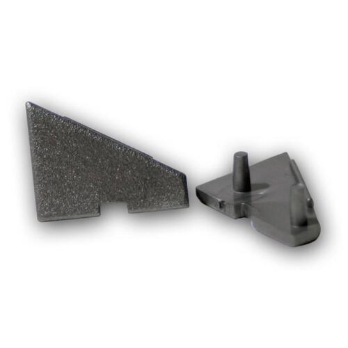2er SET Endkappen f LED Winkel-Aluprofil 60° ALU Profil