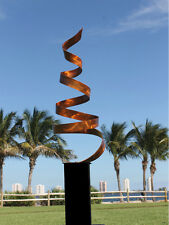 Copper Freestanding Abstract Metal Sculpture - Indoor Outdoor Yard/Home Decor