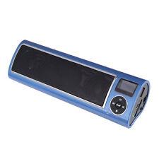 Blue Portable Speaker LCD Display USB Interface Stereo FM Multimedia LV520-III