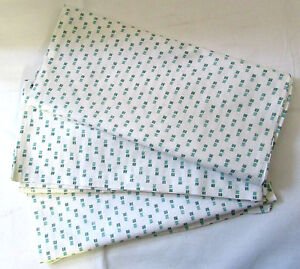 Fabric-Green-Square-Lines-Bag-Flour-Sack-Pillow-Quilt-Sewing-Material-Lot-of-6