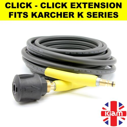 6m Karcher K3 Pressure Washer  EXTENSION HOSE Click male Click female coupling