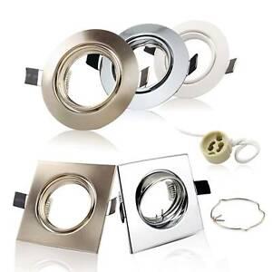 ⭕10 Einbaurahmen Einbau-Strahler Spots GU10 Einbauringe Rahmen Decke Gehäuse LED