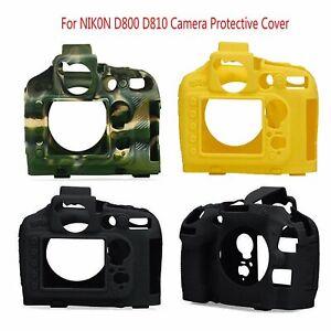 Para-Nikon-D800-D810-Camara-Funda-Suave-Silicona-Protectora-de-Carcasa-Marco