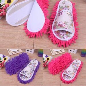 Women Dusting Mop Slippers Socks Microfiber House Slippers Bedroom Shoes Nice T Ebay