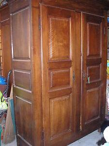 Ancienne armoire louis xiv xv 18 me rustique en noyer venir chercher ebay - Armoire ancienne louis xv ...