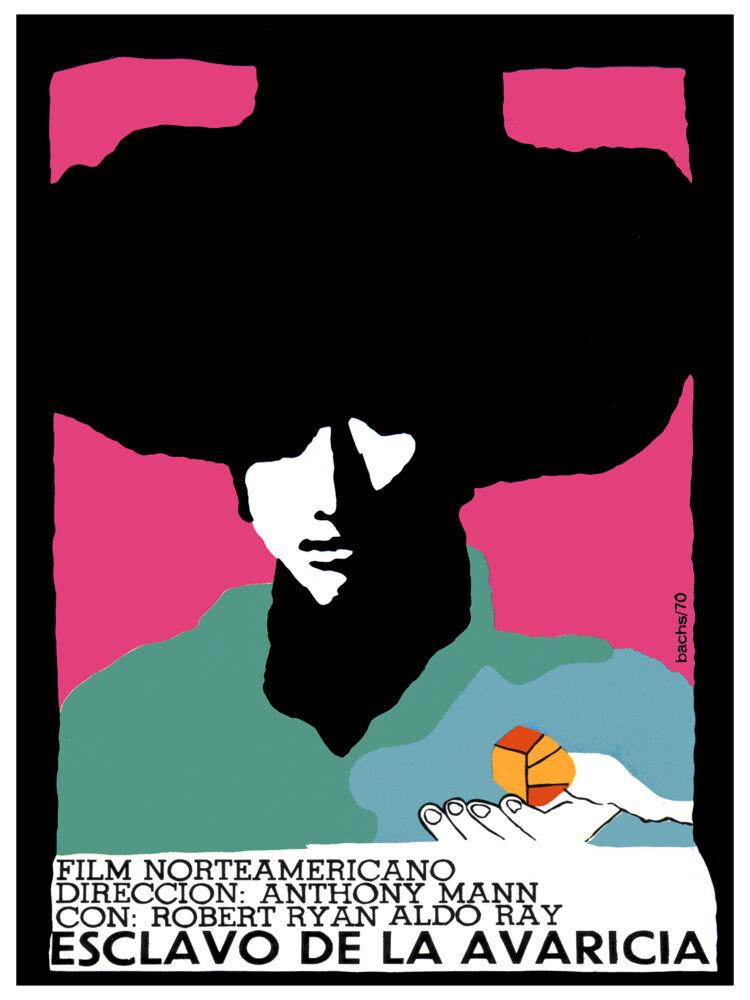 Esclavo de la Avaricia Vintage movie POSTER.Graphic Design.Art Decoration.3380