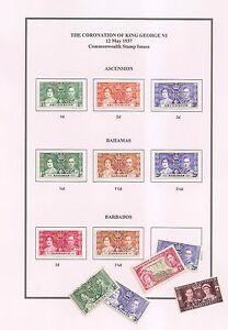 1937 Couronnement Roi George Vi, Commonwealth Omnibus Issues-pages à Imprimer-pdf-afficher Le Titre D'origine 100% D'Origine