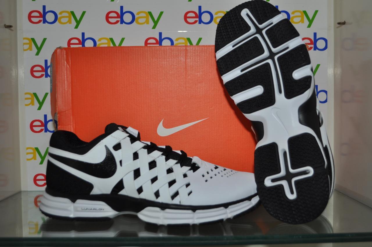 Nike Lunar Fingertrap TR 4E 898065 100 Mens Wide E Running Shoes White/Black NIB