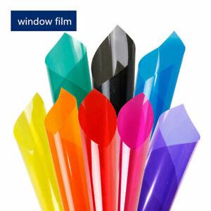 Pellicola trasparente colorata adesiva per vetrate e finestre in 8 colori