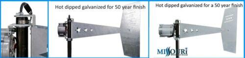"Raptor G5™ 3 blade 12 Volt 2000 Watt Max Wind Turbine Generator with 38/"" Blades"