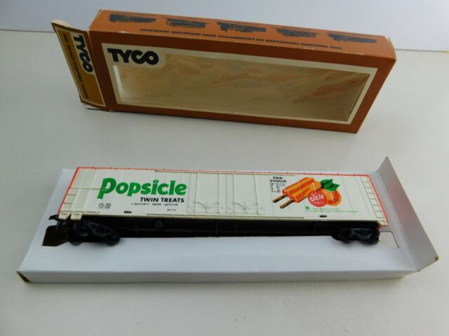 Vintage 62' POPSICLE TWIN TREATS Reefer Car Tyco HO Scale Boxed Train Car