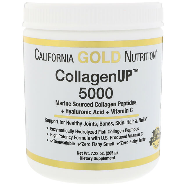 e4e33616f California Gold Nutrition Collagen up 5000 Peptides Hyaluronic Acid ...