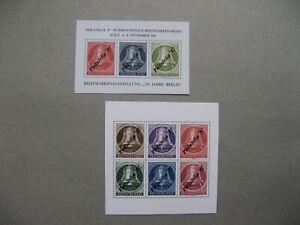 CINDERELLA-GERMANY-2x-non-postal-S-S-MNH-1987-Philatelia-Koln-liberty-bell
