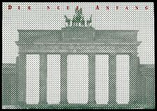 BUND FALTKARTE DEUTSCHE EINHEIT 1990 BRANDENBURGER TOR BERLIN MAUER WALL z1871