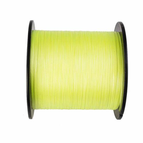 Hercules Power 10-300 lb Fluorescent Yellow PE Braided Fishing  Line 300-1000m