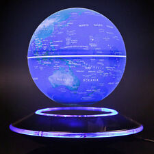 Magnetic Levitation Maglev Levitating Floating Globe World Map 8 LED Decor Light
