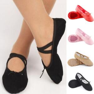 ef271c7dddeb68 Chaussures de Danse Rose Toile Noire Classique Ballet Point Fitness ...