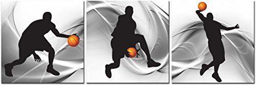 CUFUN Art Basketball Sports Themed Canvas Wall Art for Boys Room Baby Nursery D