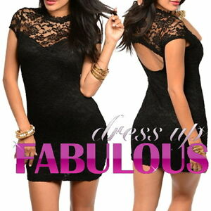 NEW-SEXY-SIZE-8-10-12-WOMEN-039-S-LACE-DRESS-PARTY-CLUB-EVENING-FORMAL-ATTIRE-WEAR