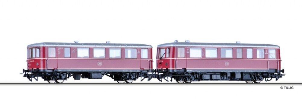 SH Tillig 79002 carro trainante VT 70.9 con carrozzetta delle DB a/c alimentazione CA ho