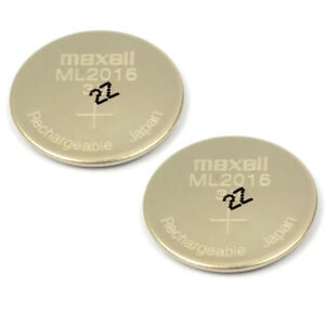 New-2PCS-3V-Maxell-ML2016-Rechargeable-Lithium-CMOS-RTC-Battery