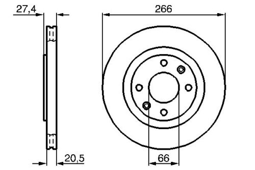 OEM Front Vented Brake Disc 266mm Peugeot 306 93-02 1.8 1.9 D 1.6 2.0 Hdi 90