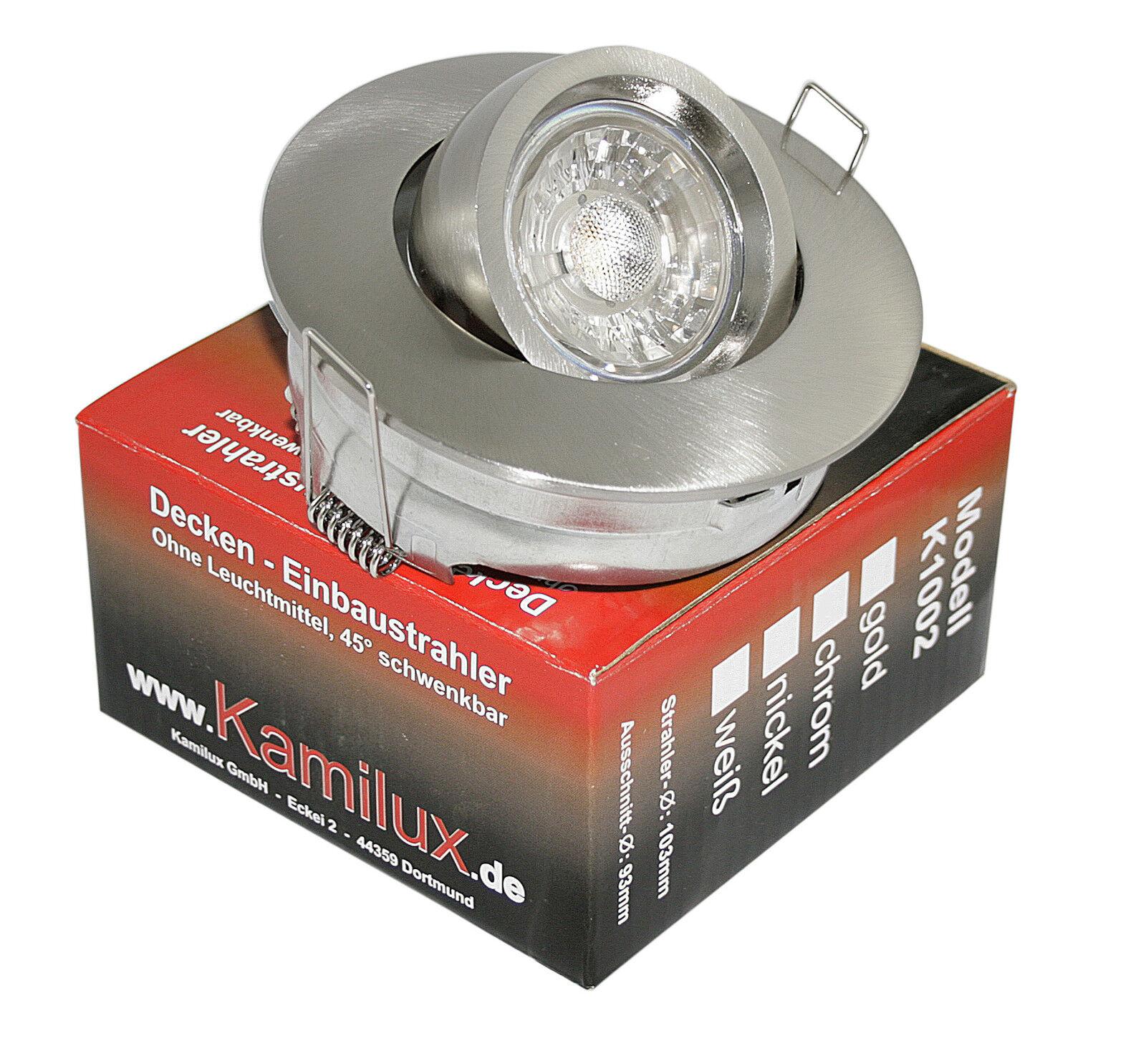 230V Spots Deckenstrahler gross Toni & 5W Power LED GU10 Leuchtmittel, rostfrei