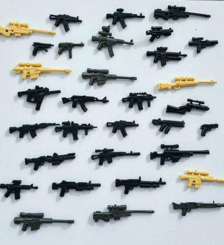 16x Custom detailed Brick Armoury guns designed for LEGO®//Brickarms Minifigures
